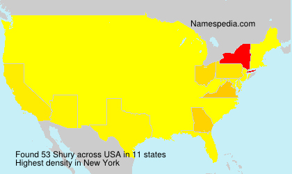Surname Shury in USA
