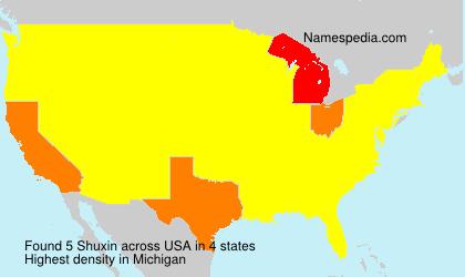 Surname Shuxin in USA