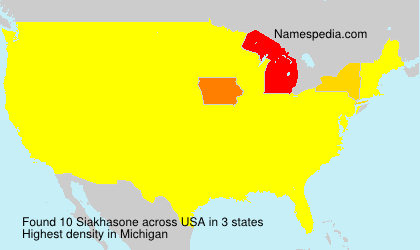 Surname Siakhasone in USA
