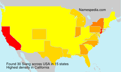 Surname Siang in USA