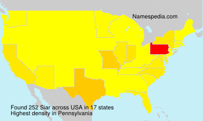 Surname Siar in USA