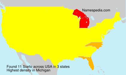 Surname Siarto in USA