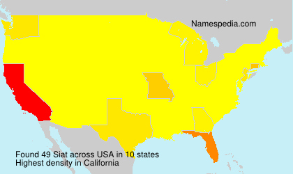 Surname Siat in USA
