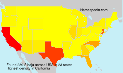 Surname Sibaja in USA