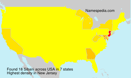 Surname Sibani in USA