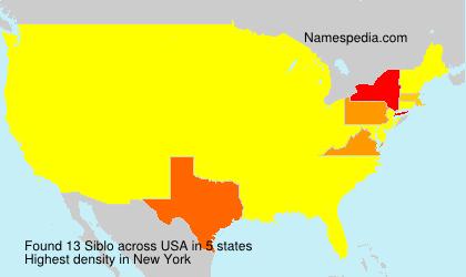 Familiennamen Siblo - USA