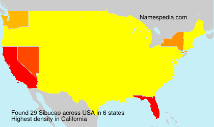 Surname Sibucao in USA