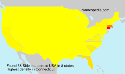 Surname Sideleau in USA