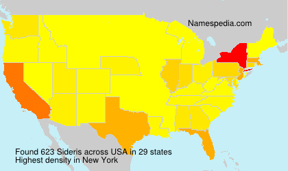 Surname Sideris in USA