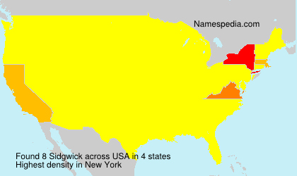 Surname Sidgwick in USA