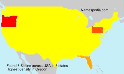 Familiennamen Sidline - USA