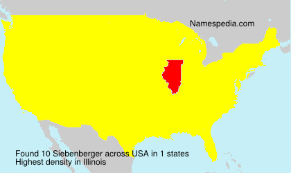 Surname Siebenberger in USA