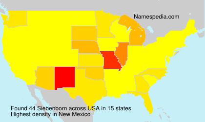 Surname Siebenborn in USA