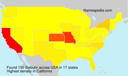 Familiennamen Siebuhr - USA