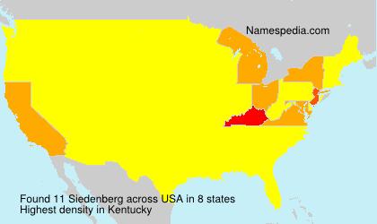 Surname Siedenberg in USA