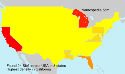 Surname Sief in USA