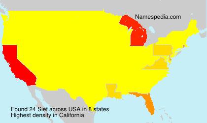 Familiennamen Sief - USA