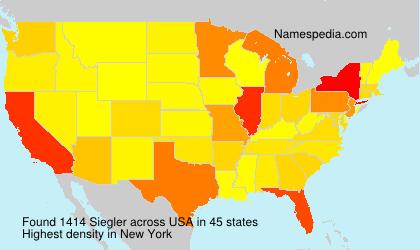Surname Siegler in USA