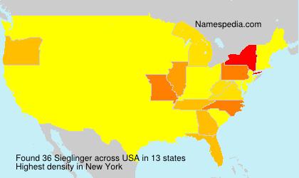 Surname Sieglinger in USA