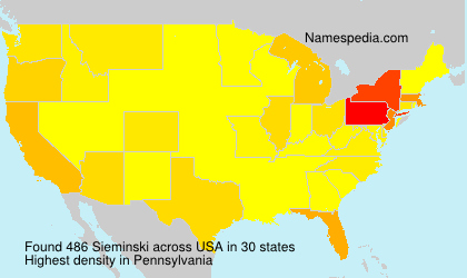 Surname Sieminski in USA