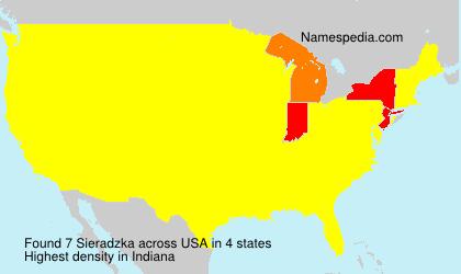 Familiennamen Sieradzka - USA