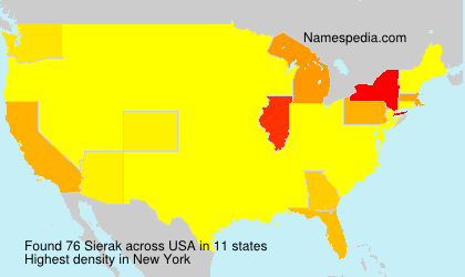 Surname Sierak in USA
