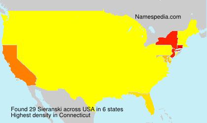 Familiennamen Sieranski - USA