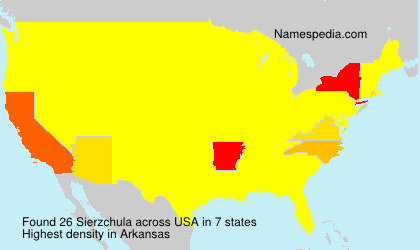 Surname Sierzchula in USA