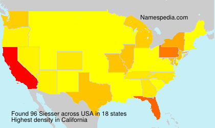 Surname Siesser in USA