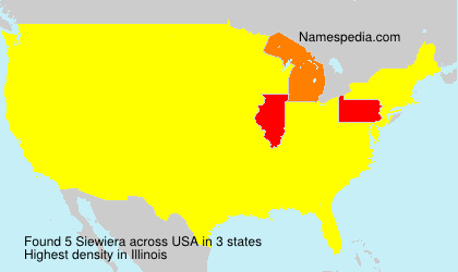 Surname Siewiera in USA