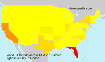 Surname Sifredo in USA