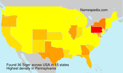 Surname Siger in USA