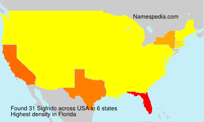 Surname Sigfrido in USA