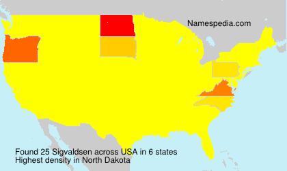 Surname Sigvaldsen in USA