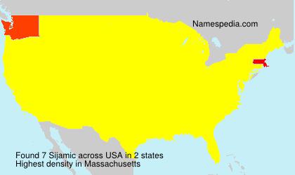 Familiennamen Sijamic - USA