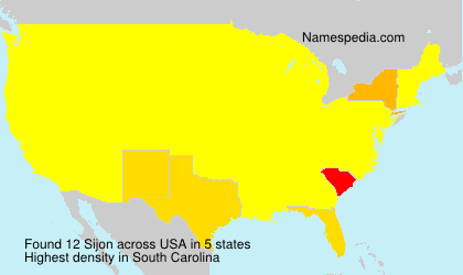 Surname Sijon in USA