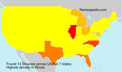 Familiennamen Sikazwe - USA