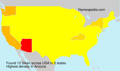 Surname Siken in USA
