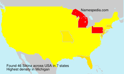 Surname Sikina in USA