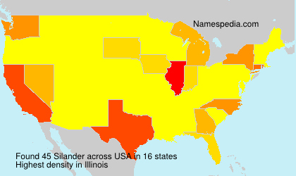Familiennamen Silander - USA