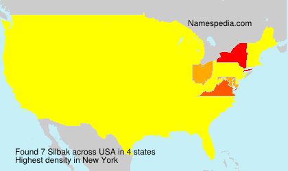 Surname Silbak in USA