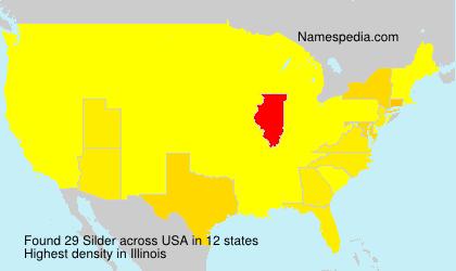 Surname Silder in USA