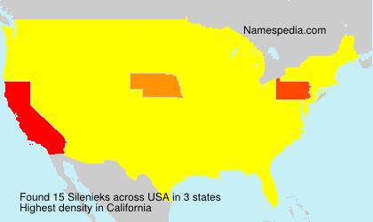 Familiennamen Silenieks - USA