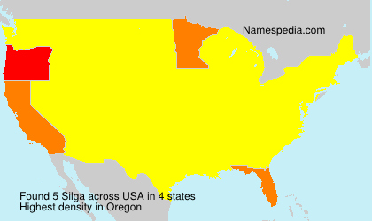Surname Silga in USA