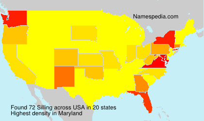 Surname Silling in USA