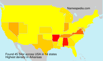 Surname Silor in USA