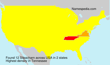 Surname Silpacharn in USA