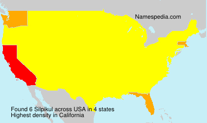 Surname Silpikul in USA