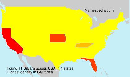 Familiennamen Silvara - USA