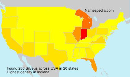 Familiennamen Silveus - USA
